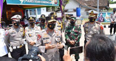 Kapolda Sumsel Monitoring Pospam,Posyan dan Pos Penyekatan Polres OKI