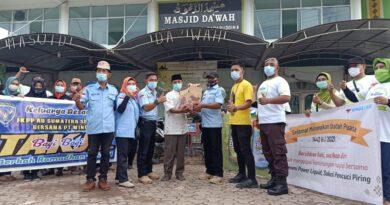 teks:IST- FKPP AU Sumsel Bareng PT. Wings Bagikan Takjil ke Masjid