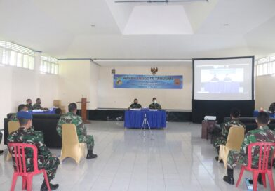 Foto: IST - Suasana Rapat Anggota Tahunan Primkopau Lanud Sri Mulyono Herlambang Tahun Buku 2020, bertempat di gedung Balai Achmad Prajurit Rasiji Lanud SMH. Selasa (11/05).