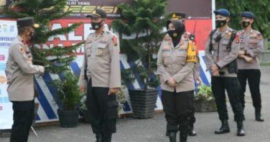 teks:IST- Wakapolda Sumsel Cek Pos Penyekatan dekranasda Jakabaring Palembang