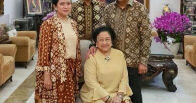 teks:IST- Lebaran Pertama, Ketua DPR RI Puan Maharani Bareng Mantan Presiden Megawati Kompak Pakai Gambo Muba