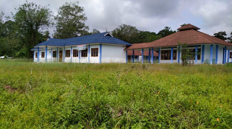 Foto: IST - Tampak halaman Gedung SLB yang sudah ditumbuhi rumput liar