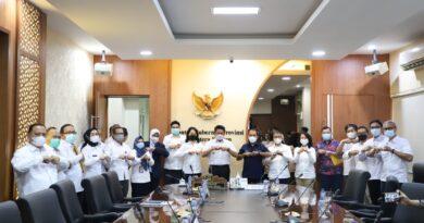 Foto: IST - Foto bersama Gubernur Sumsel dengan jajaran Direksi PT Bukit Asam Tbk