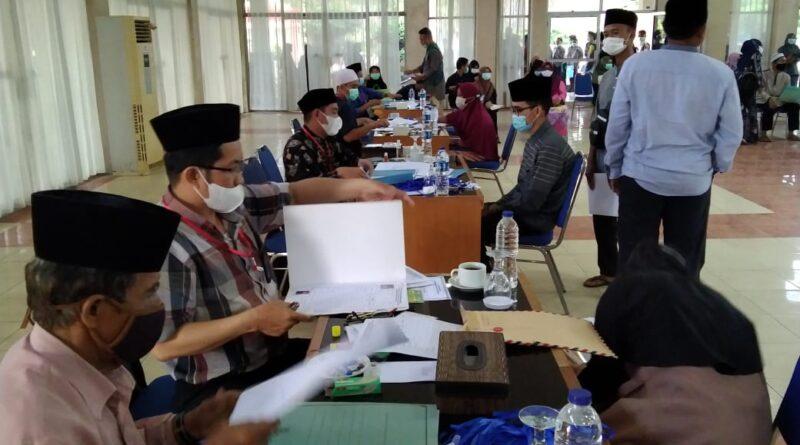 Foto: IST - Suasana pendaftaran ulang kafilah di Kab OKU Timur