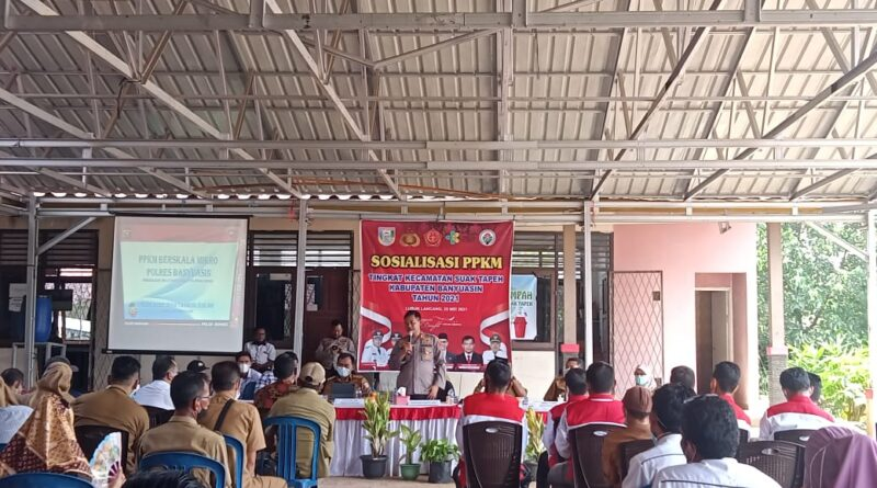 teks:IST- Kecamatan Suak Tapeh Gelar Sosialisasi PPKM