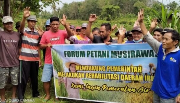 teks:IST- Penolakan Rehabilitasi Irigasi mendapat sanggahan Petani