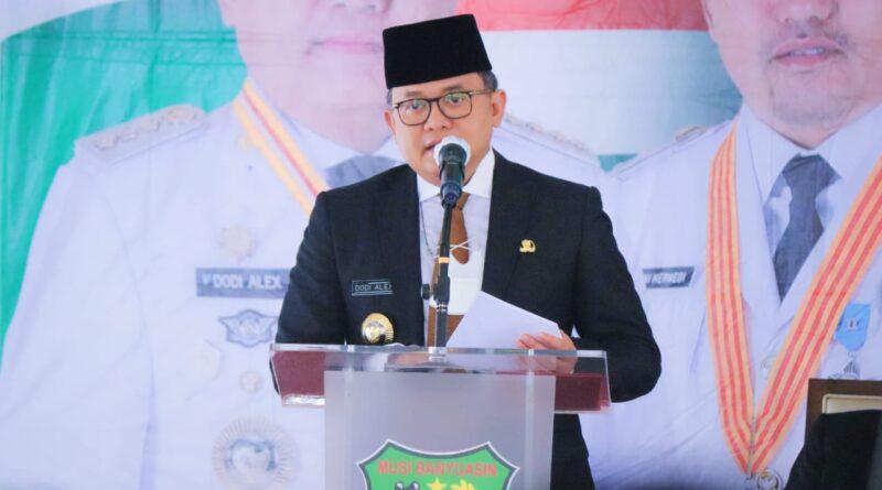 teks:IST- Bupati Dodi Reza Lantik 3 JPT dan 14 Pejabat Administrator