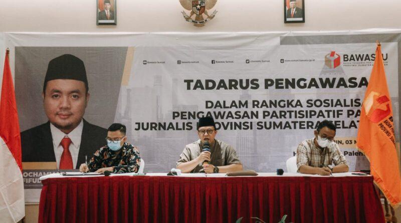 Foto: Para narasumber pada acara Tadarus yang digelar Bawaslu Sumsel
