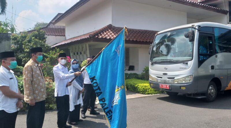 Foto: IST - Pelepasan kontingen Kota Palembang