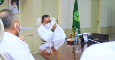 teks:IST- Bupati Dodi Reza Ikuti Rakornas Pengendalian Inflasi 2021