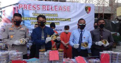 Ditreskrisus Polda Amankan Pasutri Pengedar Kosmetik Ilegal Online