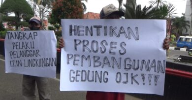 Koalisi Gerakan Penyelamat Lingkungan Kota Palembang Datangi Kantor Walikota