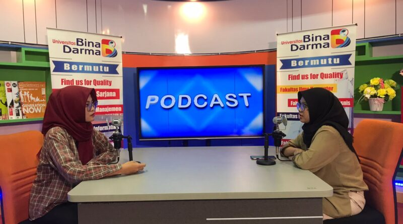 Podcast Riset & Inovasi Undang Mahasiswa UBD Desainer Toko yang Dukung Prokes Covid